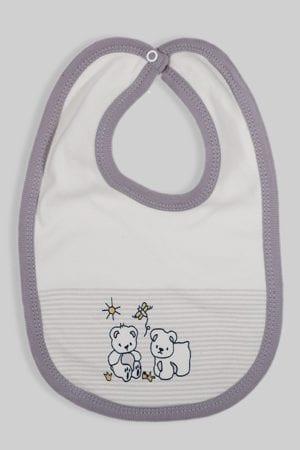 סינר לתינוק פסים אפור