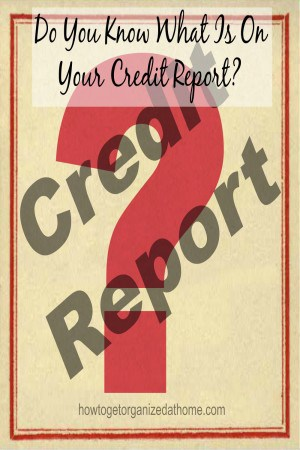 Do You Know What Is On Your Credit Report?