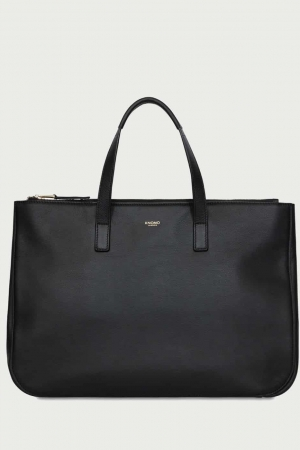 Knomo Derby Leder Mayfair Luxe Leather Tote 14 120-206-BLK_1