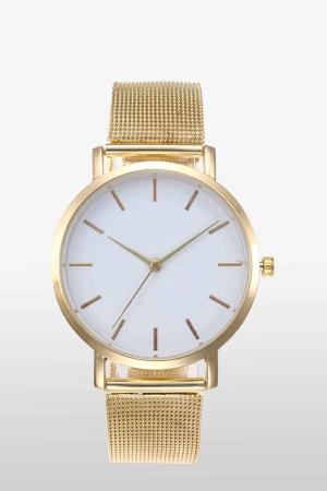 Edelstahl-Uhr_Mesh-Armband-Gold_1