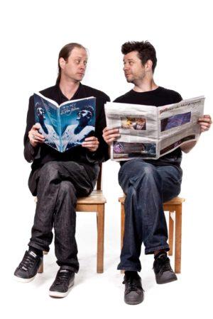"""DIe """"Crumbs"""": Lee White und Stephen Sim.Foto: Cairo"""