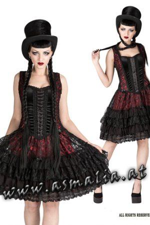 Sinister Minikleid rot 1041 Asmalia Gothic Shop