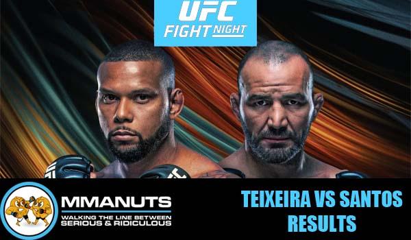 UFC Teixeira vs Santos Results | MMANUTS MMA Podcast | EP # 498