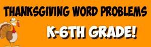 thanksgiving math word problems
