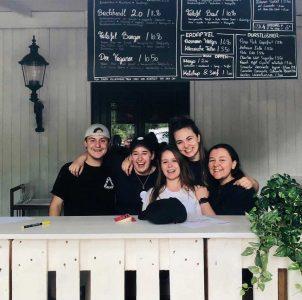 Bio Burger PopUp im Prater Das Team von Rosa & Blau Food