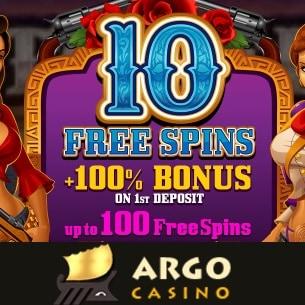 ArgoCasino 10 free spins on Pistoleras slot - no deposit bonus