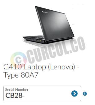 hasil deteksi tipe laptop lenovo