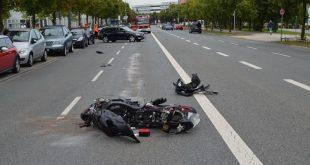 Motorradunfall in Riem Quelle Foto Polizei München