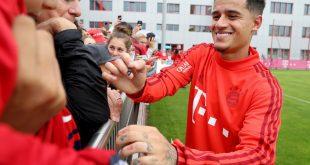 Philippe Coutinho erstes Training beim FC Bayern München