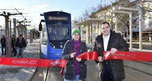 Tram Station Romanplatz in München wiedereröffnet