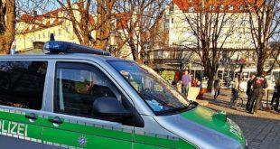 Beschränkungen Coronakrise München - Polizeikontrolle Viktualienmarkt