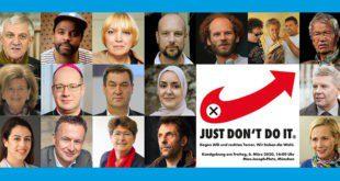 Kundgebung gegen AfD und rechten Terror in München