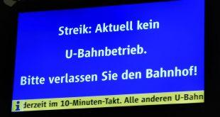 Warnstreik U-Bahn MVG München