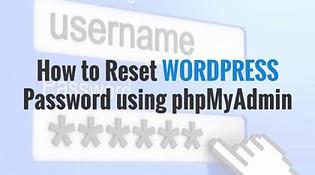 How to reset wordpress password using phpMyadmin