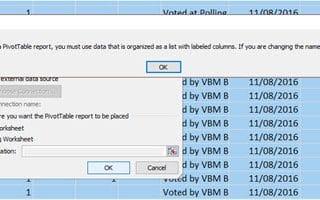 PivotTable Field Name not valid error dialog
