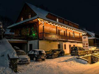 noční zimní penzion skála