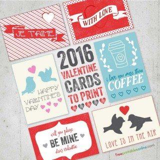 2016 Free Valentine Cards to Print