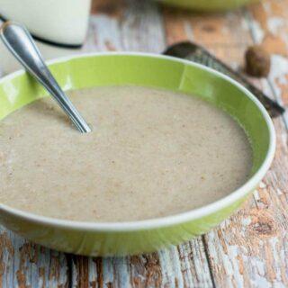Porridge with spoon