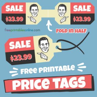 Double Sided Printable Price Tags