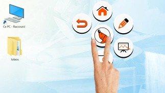gereedschapspalet software touchscreen