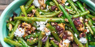 Salade grecque aux haricots verts