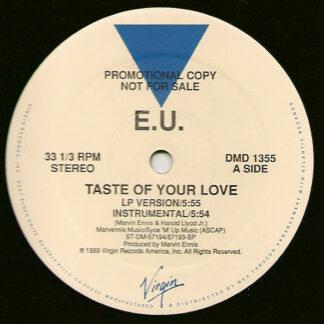 E.U. - Taste Of Your Love / Da Butt '89 (12