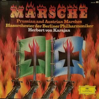 Herbert von Karajan, Blasorchester der Berliner Philharmoniker - Märsche - Prussian And Austrian Marches (2xLP, Album)