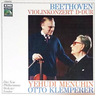 Beethoven* - Yehudi Menuhin, Otto Klemperer, Das Neue Philharmonia Orchester London* - Violinkonzert In D-Dur (Op. 61) (LP, Album, RE)