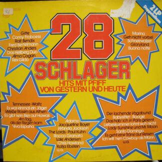 Various - 28 Schlager - Hits Mit Pfiff Von Gestern Und Heute (2xLP, Comp)