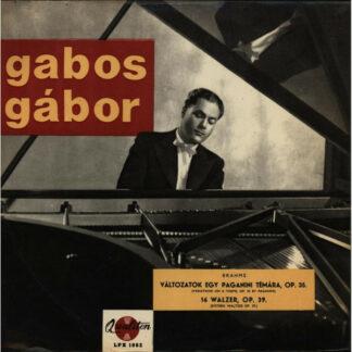 Johannes Brahms, Gabos Gábor* - Változatok egy Paganini témára Op. 35; 16 Walzer Op. 39 (LP)