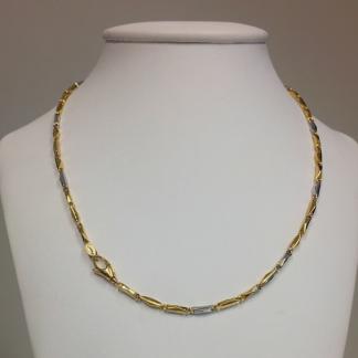 collana unisex in oro bicolore 18 carati