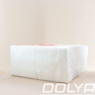 Туалетная бумага 2-х слойная, целлюлозная, листовая 200 шт. Dolya (40 шт. / уп. ) DOLYA