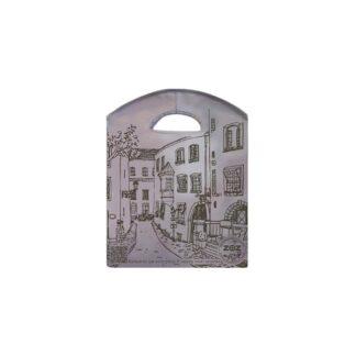 """ЭКО сумка """"Місто"""", ТМ """"ZOZ"""", с прорезными ручками, серая, 400 мм*325 мм*95 мм (арт.96012)"""