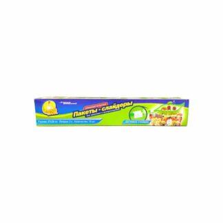 Пакет с застежкой (слайдер) для хранения и замораживания продуктов, 3 л, 10 шт./уп. (арт 0.1354)