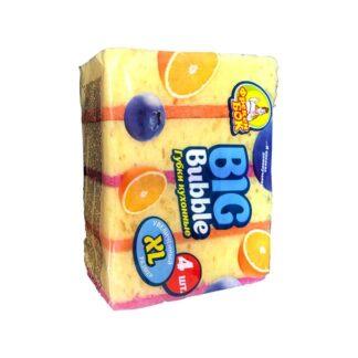 """Губка для посуды """"Big Bubble"""", 4 шт./уп. (арт 0.1040)"""