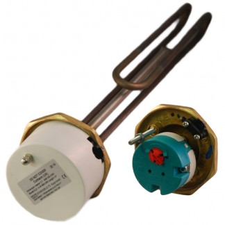 """Thermco - 1"""" 3/4"""" 3kW Titanium Immersion Heater 14"""" for Unvented Cylinders"""