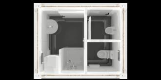 CHV-150S 10 fuß Sanitärcontainer Überblick oben