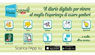 Primo Diario Crescendo, un'app sulla prima infanzia