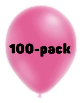 Ballonger Neonrosa - 100-pack
