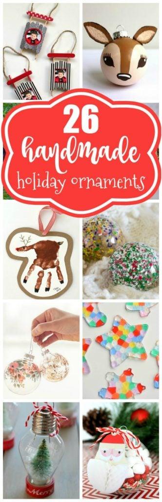 26 Easy DIY Christmas Ornaments - Pretty My Party