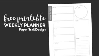 Weekly planner page with goals, notes, to-do list, and a weekly schedule with text overlay- free printable weekly planner