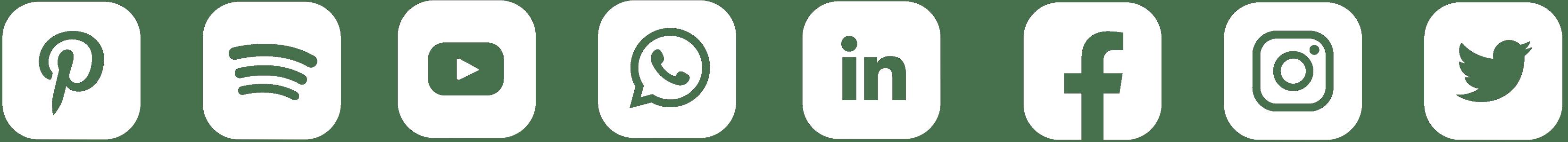 logos redes sociales diseño web