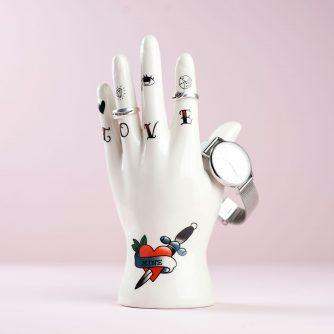 Hand sieradenhouder – Tattoo