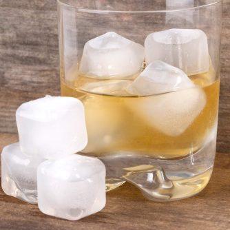 Plastic ijsblokjes (set van 30) met glas