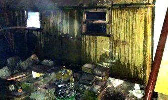 Пожежа вагончика на Київській