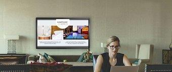 l'affichage dynamique sur un écran interactif clevertouch