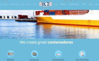 Primer Boceto de diseño web de empresa de contenedores marítimos de Estepona, Málaga