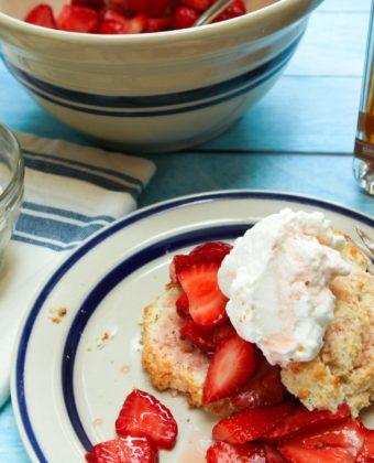 Strawberry shortcake and maple syrup by Runamok Maple