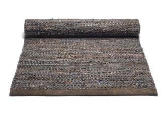 brązowy dywan skórzany z recyklingu Leather Choco 0021