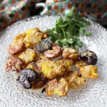 garlic smashed potatoes | one dish kitchen